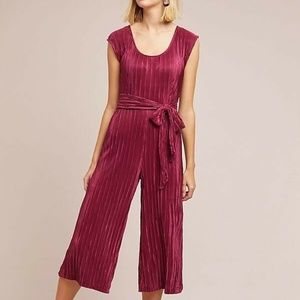 ANTHROPOLOGIE MAEVE SONATA WINE JUMPSUIT 0 P